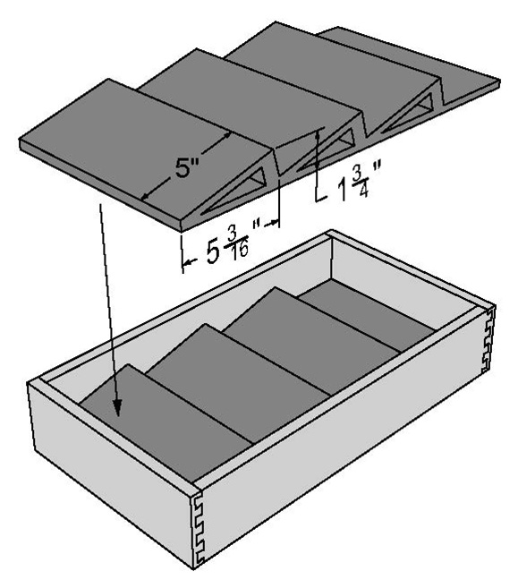 Drawer Boxes - Spice Rack Insert